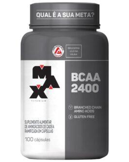 BCAA 2400mg  Pote com 100 Cápsulas MAXTITANIUM